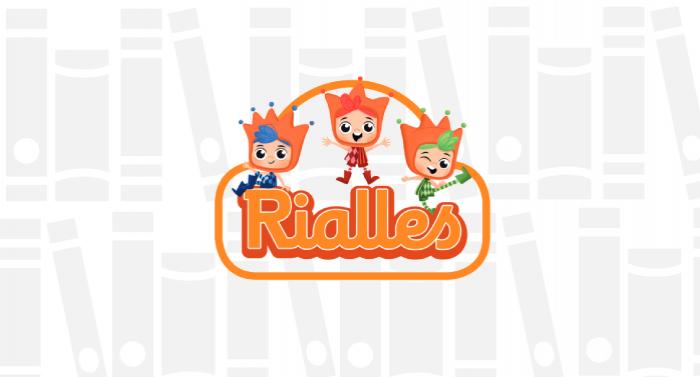 Logo del Pla lector del Projecte Rialles per a Infantil