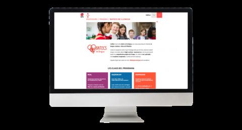 Web del programa Batecs de llengua per a Primària