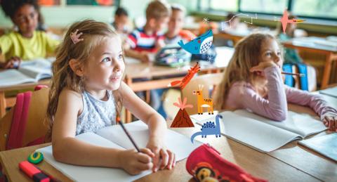 Nens a classe