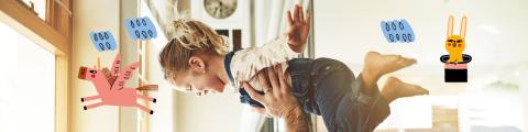 Nena petita amb el seu pare