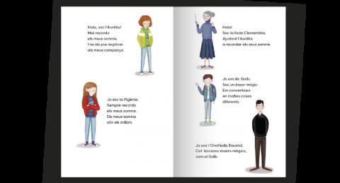 Mostra llibre adaptat amb presentació dels personatges
