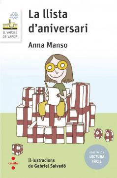 """Coberta de """"La llista d'anniversari"""" (Anna Manso) en l'edició Lectura fàcil"""