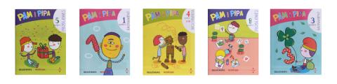 Quaderns de matemàtiques Pam i pipa d'Educació Infantil