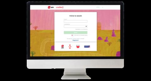 Ordinador amb l'entorn digital SM Cruïlla Aprenentatge en pantalla