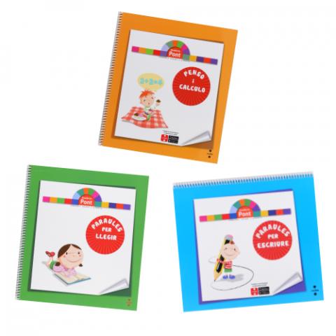 Coberta dels 3 Quaderns Pont d'Educació Infantil
