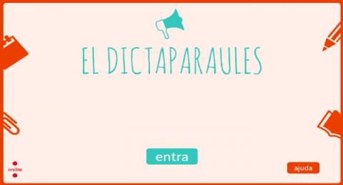Activitat interactiva: dictaparaules