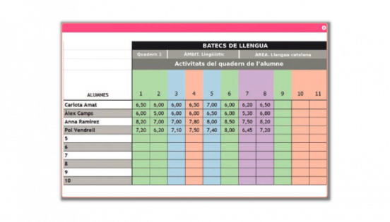 Rúbrica per avaluar en format digital (Batecs de llengua)